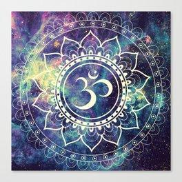 Om Mandala : Deep Pastels Galaxy Canvas Print