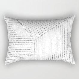 Lines Art Rectangular Pillow