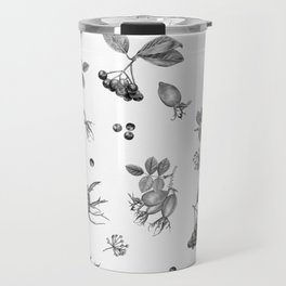 rosehip, chokeberries and teasel Travel Mug