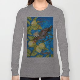 Fruits and Fantasy: Guava/Blackbird Long Sleeve T-shirt