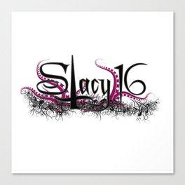 Stacy 16 logo White Canvas Print