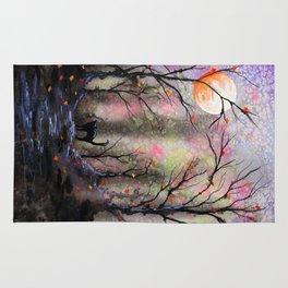 Moonlit forest Rug