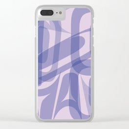 Abstract Formline Purple Clear iPhone Case