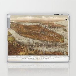 Aerial View of New York and Brooklyn (1875) Laptop & iPad Skin