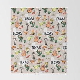 Classic Texas Icons Throw Blanket