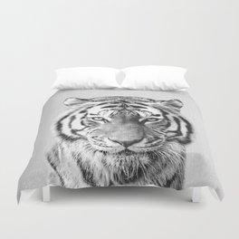 Tiger - Black & White Duvet Cover