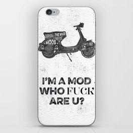 Vespa, mods, calligraphy, graphic iPhone Skin