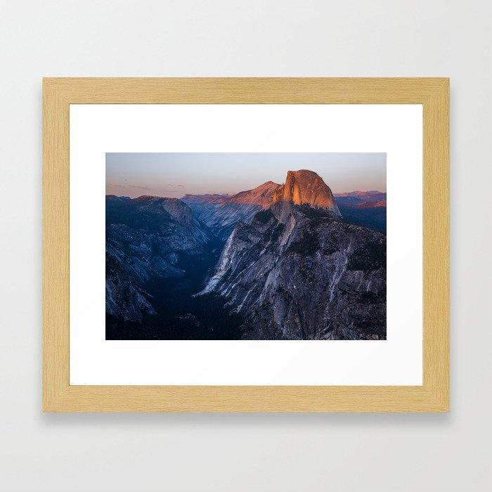 Sunkissed Half Dome at Sunset Framed Art Print