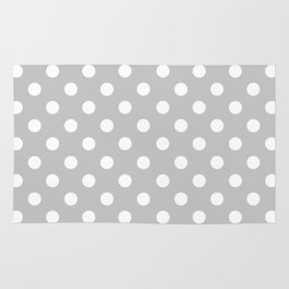 Polka Dots (White & Gray Pattern) Rug