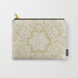 Mandala Temptation in Golden Yellow Carry-All Pouch