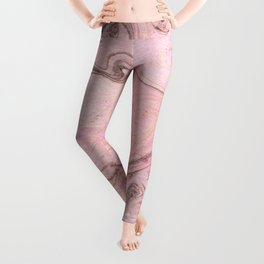 Marbly Pink Leggings