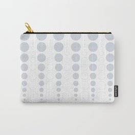 Up and down polka dot pattern in white and a pale icy gray Carry-All Pouch