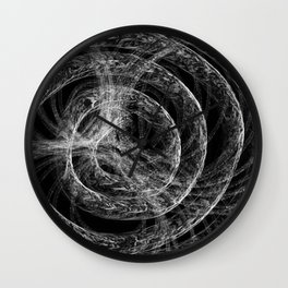 Complex Mable Pattern Wall Clock