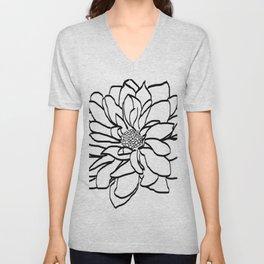 Flower (white) Unisex V-Neck