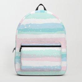 Pastel Stripe Wave Backpack