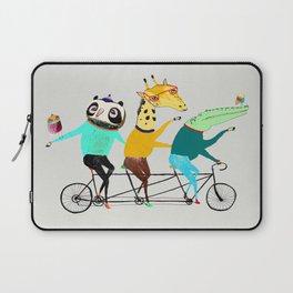 Animals biking. bike art, bike decor, bikes. Laptop Sleeve