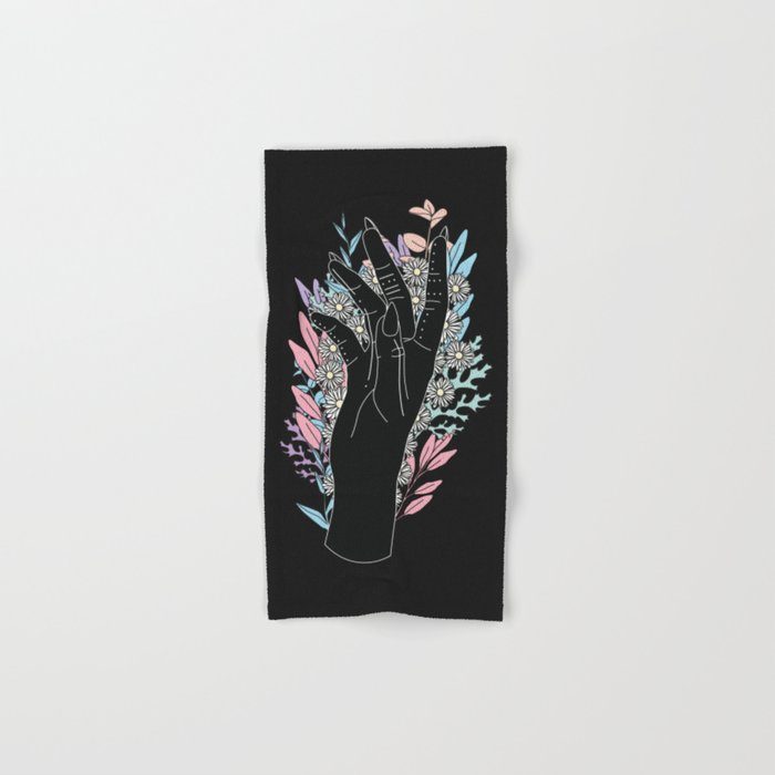 Blooming Day - Illustration Hand & Bath Towel