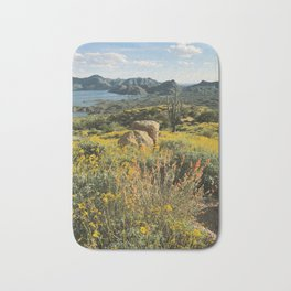 Arizona Spring Mountain Bloom Bath Mat