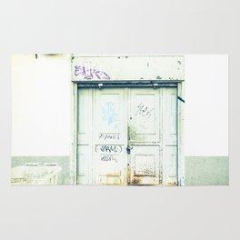 Blanco y óxido Rug