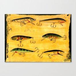 fishing lure tattoo flash! Canvas Print