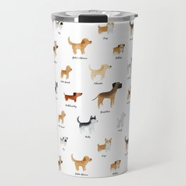 Lots of Cute Doggos - With Names Travel Mug