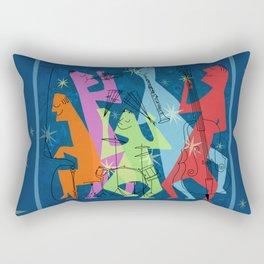 Mid-Century Modern Jazz Band Rectangular Pillow