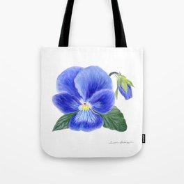 Purple Pansy by Teresa Thompson Tote Bag