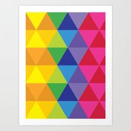 Rainbow Cosmic Universe Art Print