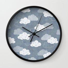 RAIN CLOUDS Wall Clock