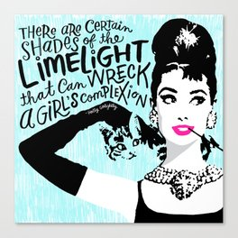 Certain Shades of the Limelight Canvas Print