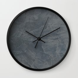 Slate Gray Stucco - Faux Finishes - Rustic Glam - Venetian Plaster Wall Clock