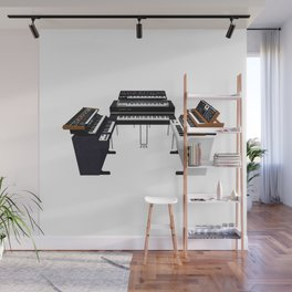 Vintage Keyboards / Synthesizers Wall Mural