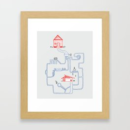 All Roads Lead to Your House Framed Art Print