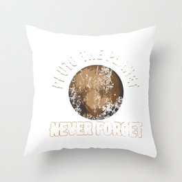 Pluto The Planet Never Forget Distressed Throw Pillow