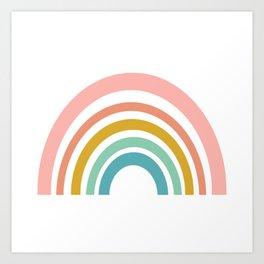 Simple Happy Rainbow Art Art Print