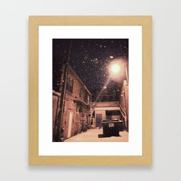 Blizzard At Photography Studio Framed Art Print