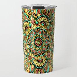 Colorburst Mandala Flowers Travel Mug