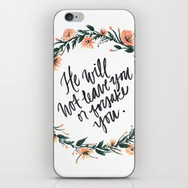 Deuteronomy 31:6 with Wreath iPhone Skin