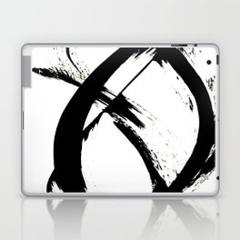 Brushstroke 7: a minimal, abstract, black and white piece Laptop & iPad Skin