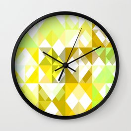 Pale Yellow Poinsettia 1 Abstract Triangles 1 Wall Clock