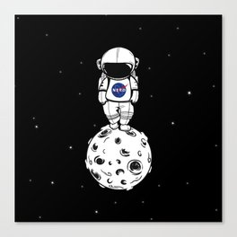 rolling in space Canvas Print