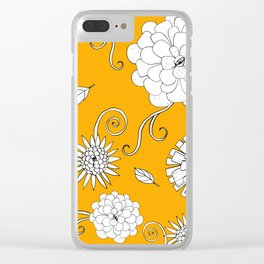 Sunny Crazy Daisy pattern Clear iPhone Case