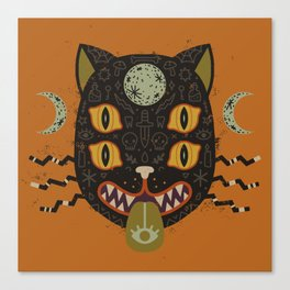 Spooky Cat Canvas Print