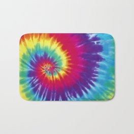Tie dye hippie Bath Mat
