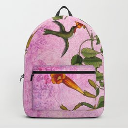 Hummingbird with Trumpet Vine Backpack