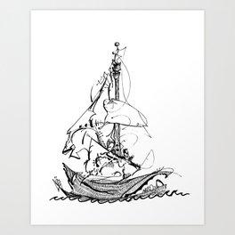 Captain Melo the Explorer Art Print