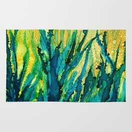 Under the Sea, Alcohol Ink Rug