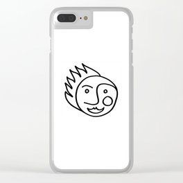 Smiling Face Clear iPhone Case
