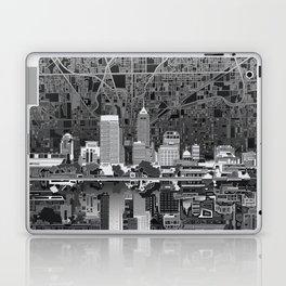 indianapolis city skyline black and white Laptop & iPad Skin