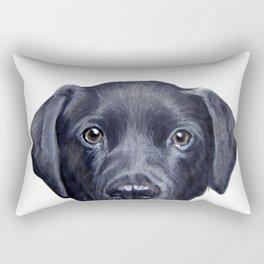 Labrador with white background Dog illustration original painting print Rectangular Pillow